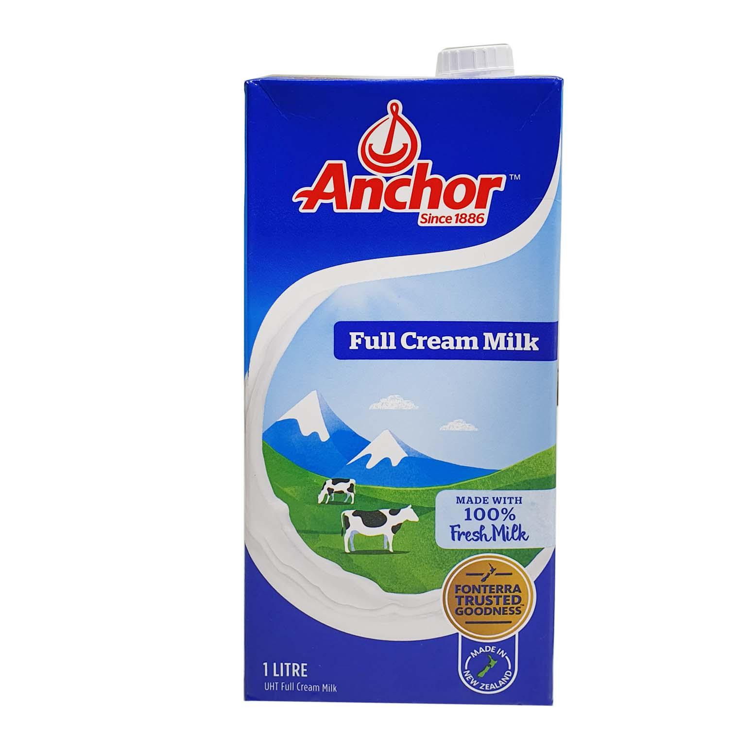 Anchor Full Cream Milk 1Ltr