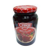 Craigs Red Plum F/Jam 375g