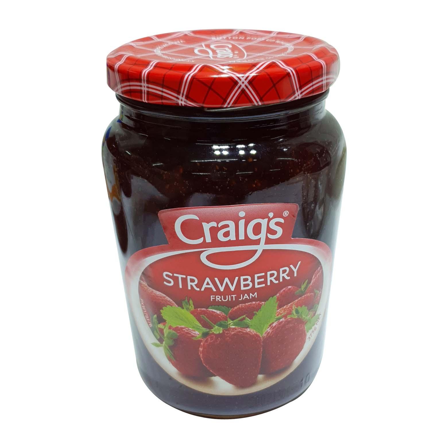 Craigs Strawberry Fruit Jam 375g